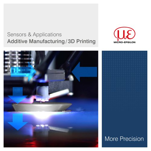 Sensors & Applications Additive Manufacturing/ 3D Printing