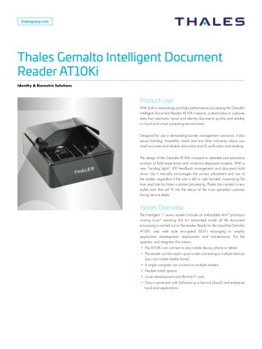 Thales Gemalto Intelligent Document Reader AT10Ki