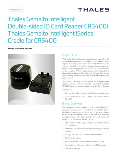 Thales Gemalto Intelligent Double-sided Card Reader CR5400i