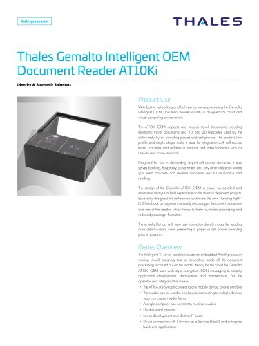 Thales Gemalto Intelligent OEM Document Reader AT10Ki OEM