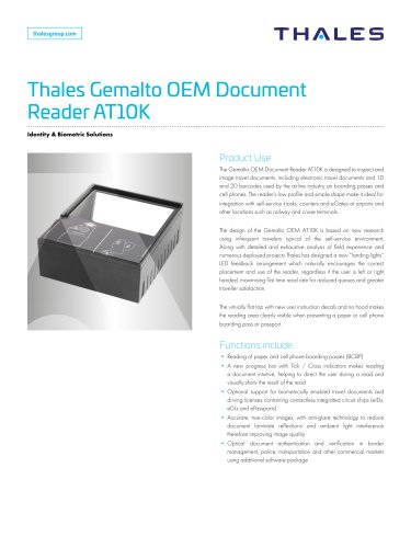 Thales Gemalto OEM Document Reader AT10K