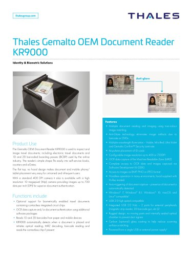 Thales Gemalto OEM Document Reader KR9000