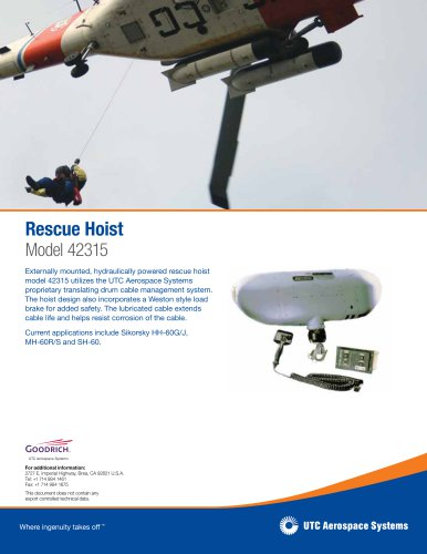 Rescue Hoist Model 42315