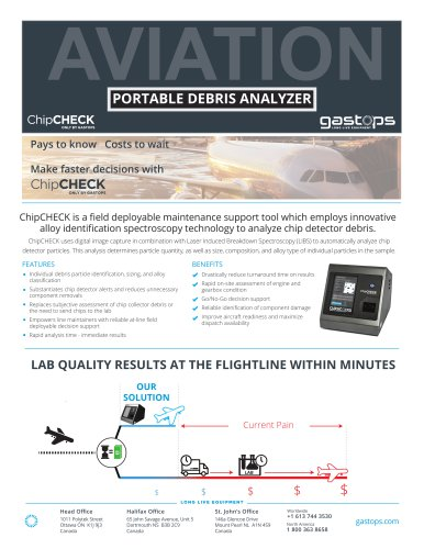 PORTABLE DEBRIS ANALYZER