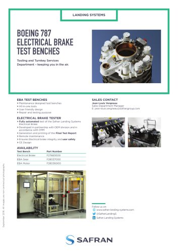 BOEING 787 ELECTRICAL BRAKE TEST BENCHES