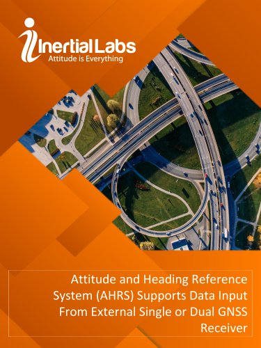 Attitude and Heading Reference System (AHRS) Supports Data Input From External Single or Dual GNSS Receiver