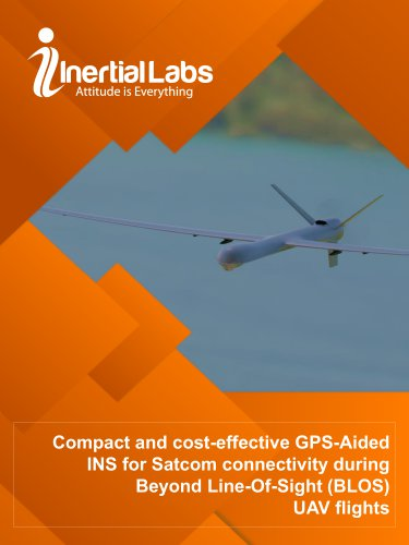 Compact and cost-effective GPS-Aided INS for Satcom connectivity during Beyond Line-Of-Sight (BLOS) UAV flights