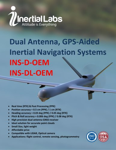 DualAntenna, GPS-Aided InertialNavigationSystems INS-D-OEM INS-DL-OEM