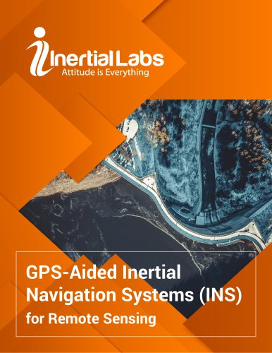 GPS-Aided INS for Remote Sensing (LiDAR, mapping, survey, photogrammetry)