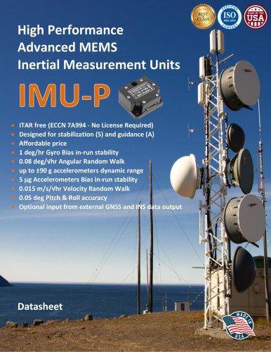 High Performance Advanced MEMS Industrial & Tactical Grade Inertial Measurement Units (IMU-P)