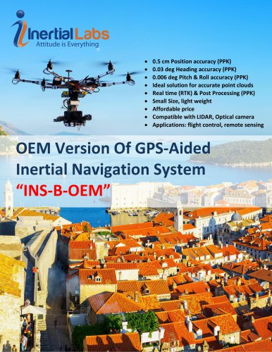 """OEMVersion Of GPS-Aided Inertial NavigationSystem """"INS-B-OEM"""""""