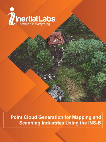 Point Cloud Generation for Mapping and Scanning Industries Using the INS-B