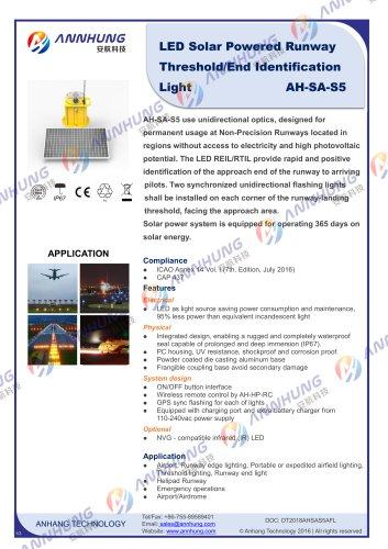 AH-SA-S5  LED Solar Powered Runway Threshold Identification-End Light