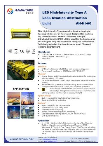High-intensity Type A L856 Aviation Obstruction Light AH-HI-A0