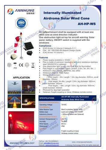 Internally Illuminated Airdrome Solar Wind Cone
