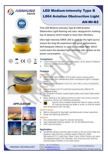 LED Medium-intensity Type B L864 Aviation Obstruction Light AH-MI-B2