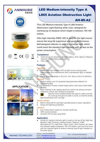 LED Medium-intensity Type A L865 Aviation Obstruction Light AH-MI-A2