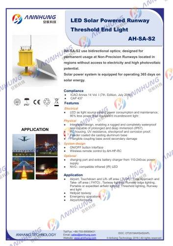 LED Solar Powered Runway Threshold End Light