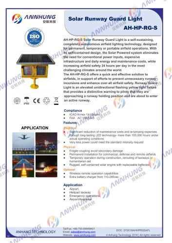 Solar Runway Guard Light