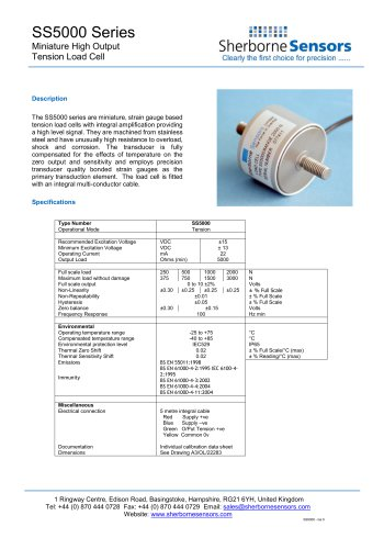 SS5000 Series Miniature High Output Tension Load Cell
