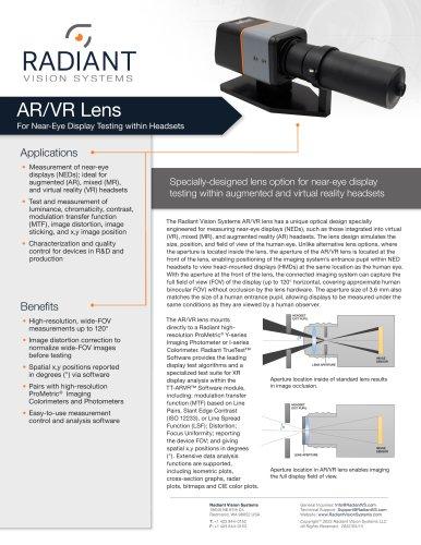 AR/VR Lens