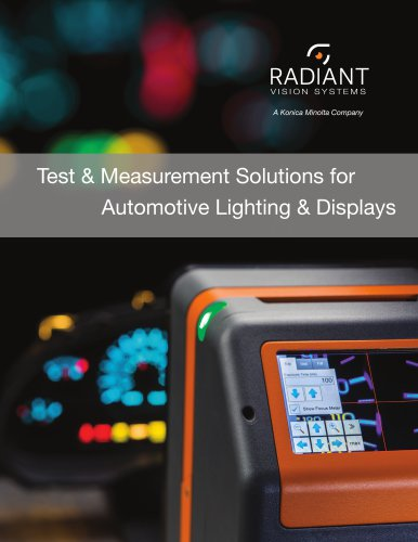 Test & Measurement Solutions for  Automotive Lighting & Displays