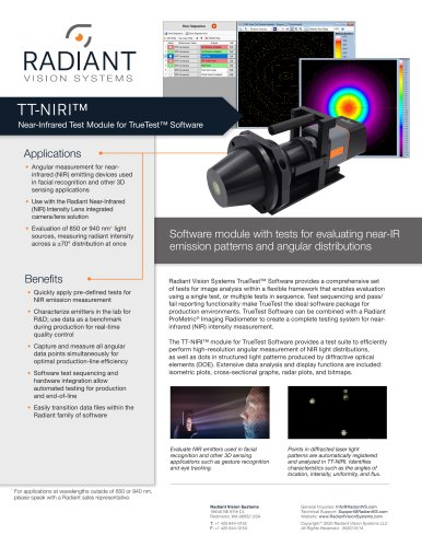 TT-NIRI™ Near-Infrared Test Software