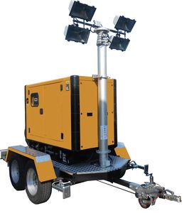 torre de iluminação com lâmpadas de iodetos metálicos / halôgena / de LED / móvel