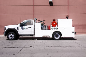 máquina de limpeza montada em caminhão / para limpeza de superfícies / para pista