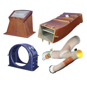 duto de ventilação para aeronave / rígido / em compósito / antirruído