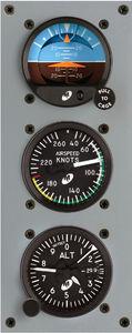 anemômetro para avião / analógico / 2 polegadas