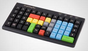 teclado com leitor MSR / com leitor de cartões / para aeroporto