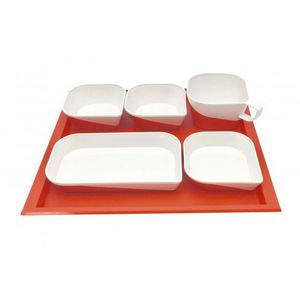 prato de servir para cabine de avião / para avião comercial / em plástico / reutilizável