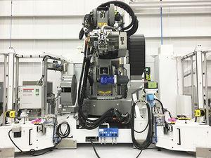máquina de rebitagem elétrica / de rebites / para aeronáutica / automática