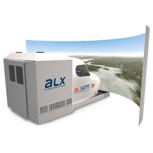 simulador de avião / de voo / para treinamento / em cabine de pilotagem