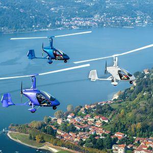girocóptero de 2 lugares / com motor de 4 tempos / com cabine fechada / lado a lado