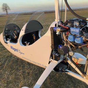 girocóptero de 2 lugares / com motor de 4 tempos / em tandem / com cabine aberta