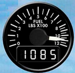 indicador de fluxo / analógico / eletrônico / de combustível