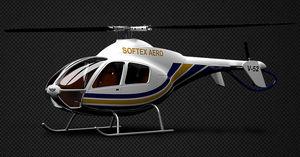 helicóptero 3 – 5 passageiros / executivo / com motor de pistões / de rotor único