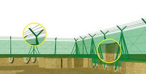 cerca para aeroporto / de segurança / em fibra de vidro