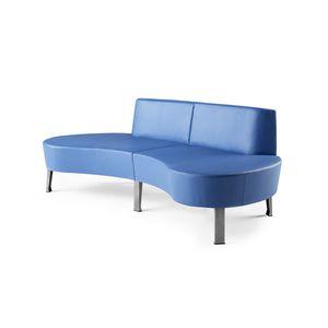 sofá para aeroporto / modular / em tecido / em metal pintado