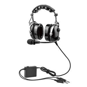 fone de ouvido com microfone para a aviação comercial / para piloto / antirruído