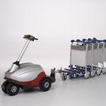 trator rebocador / sem barra de reboque / para carrinhos de bagagem / elétrico