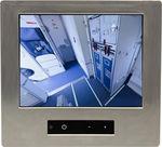 tela para cabine de avião para sistema de entretenimento a bordo / com tela sensível ao toque