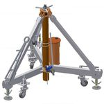 macaco para avião / hidráulico / trípode / pneumático