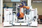 máquina de montagem robótica