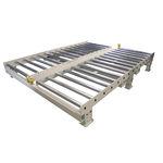 plataforma com rolos de transferência para carga