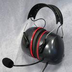 fone de ouvido com microfone para a aviação geral / para pista / para apoio no solo / antirruído