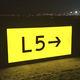 placa de sinalização / estática / para pista / de LED